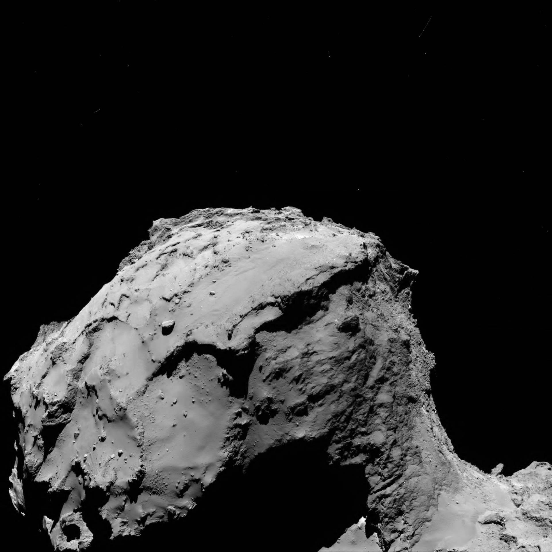 El cometa, a las 4:17 (CET)