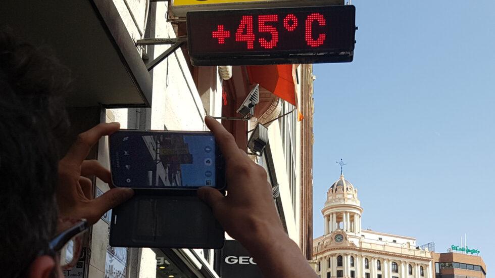 Termómetro a 45ºC