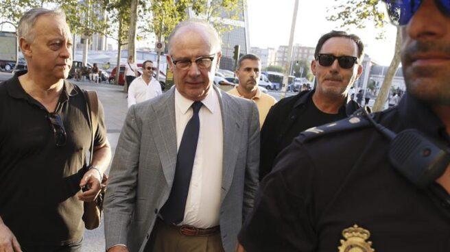Rodrigo Rato, en los juzgados de Plaza Castilla