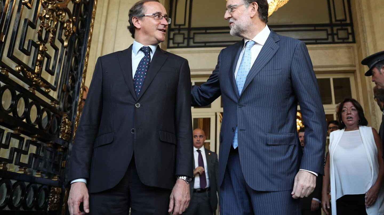Alfonso Alonso y Mariano Rajoy,