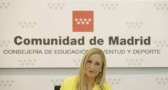 La presidenta de la Comunidad de Madrid, Cristina Cifuentes, en una comparecencia pública.