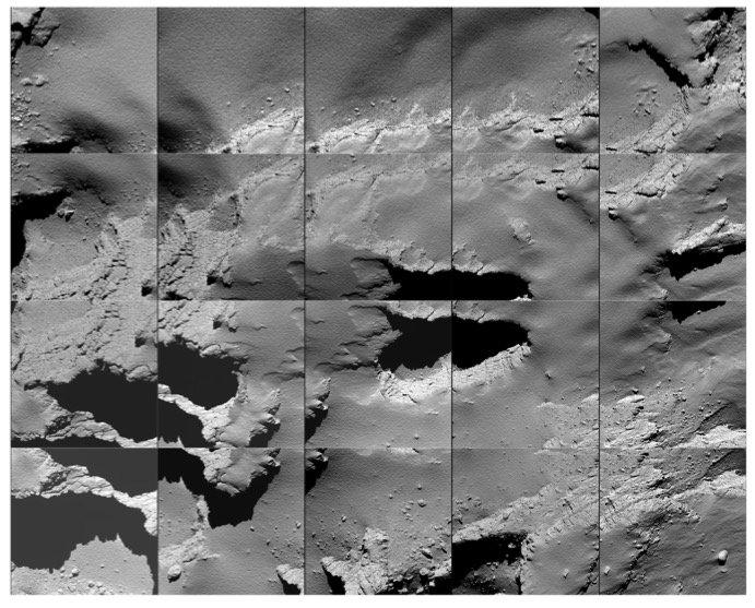 Últimas imágenes enviadas por Rosetta antes de estrellarse