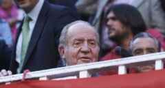 El Rey Juan Carlos, durante una corrida de toros.