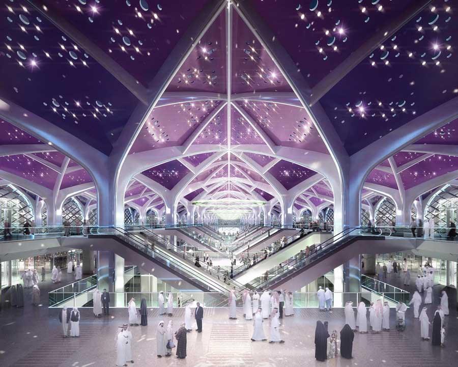 Recreación de una de las estaciones de AVE en Arabia Saudí por parte del consorcio.