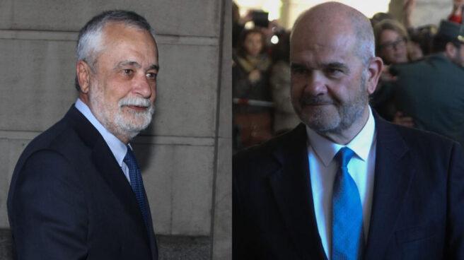 Los ex presidente de la Junta de Andalucia José Antonio Griñán y Manuel Chaves.