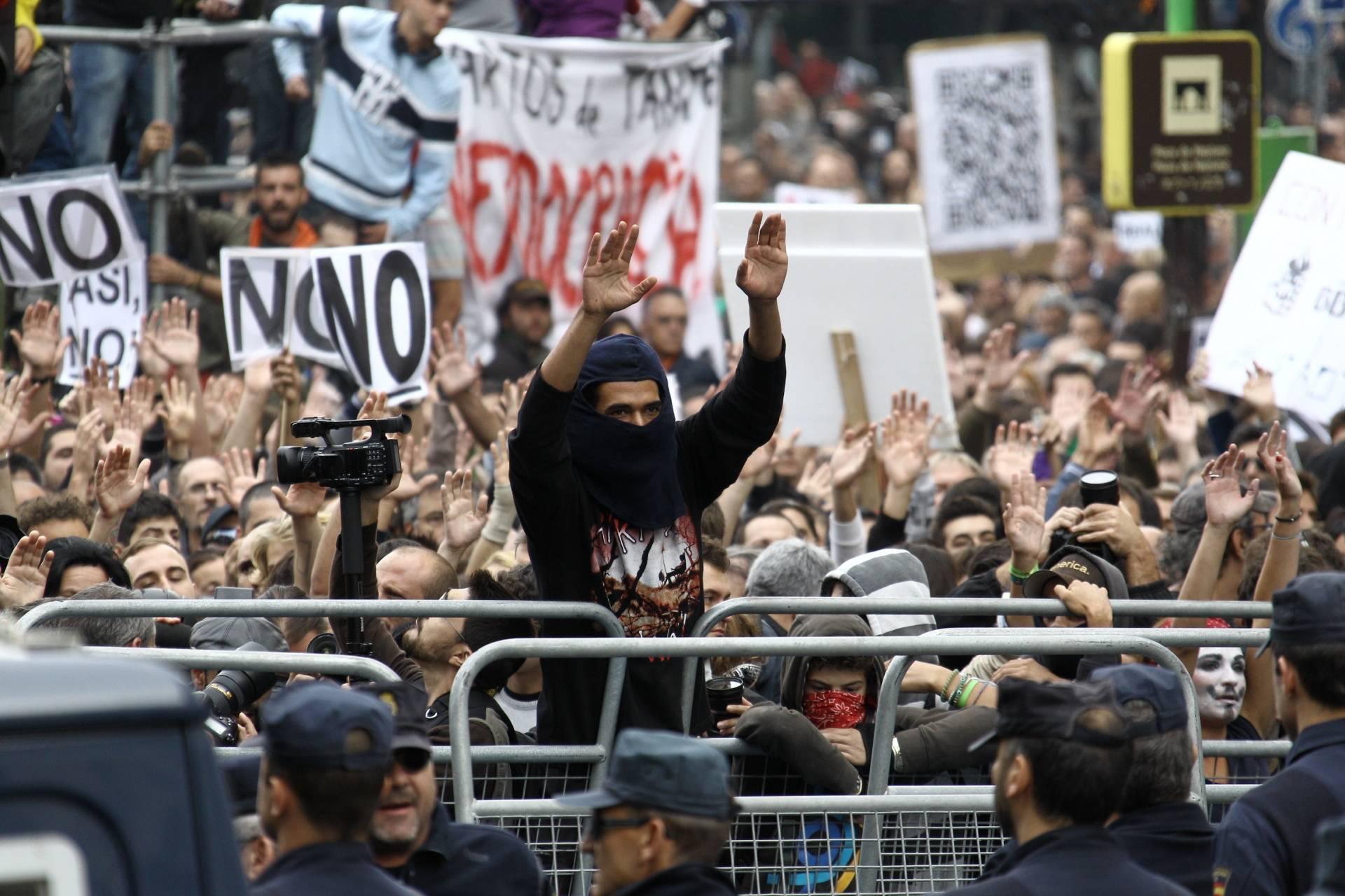Manifestación Rodea el Congreso del 25 de septiembre de 2012.