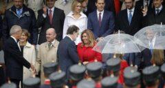 Mariano Rajoy saluda a Susana Díaz, durante la Fiesta Nacional.