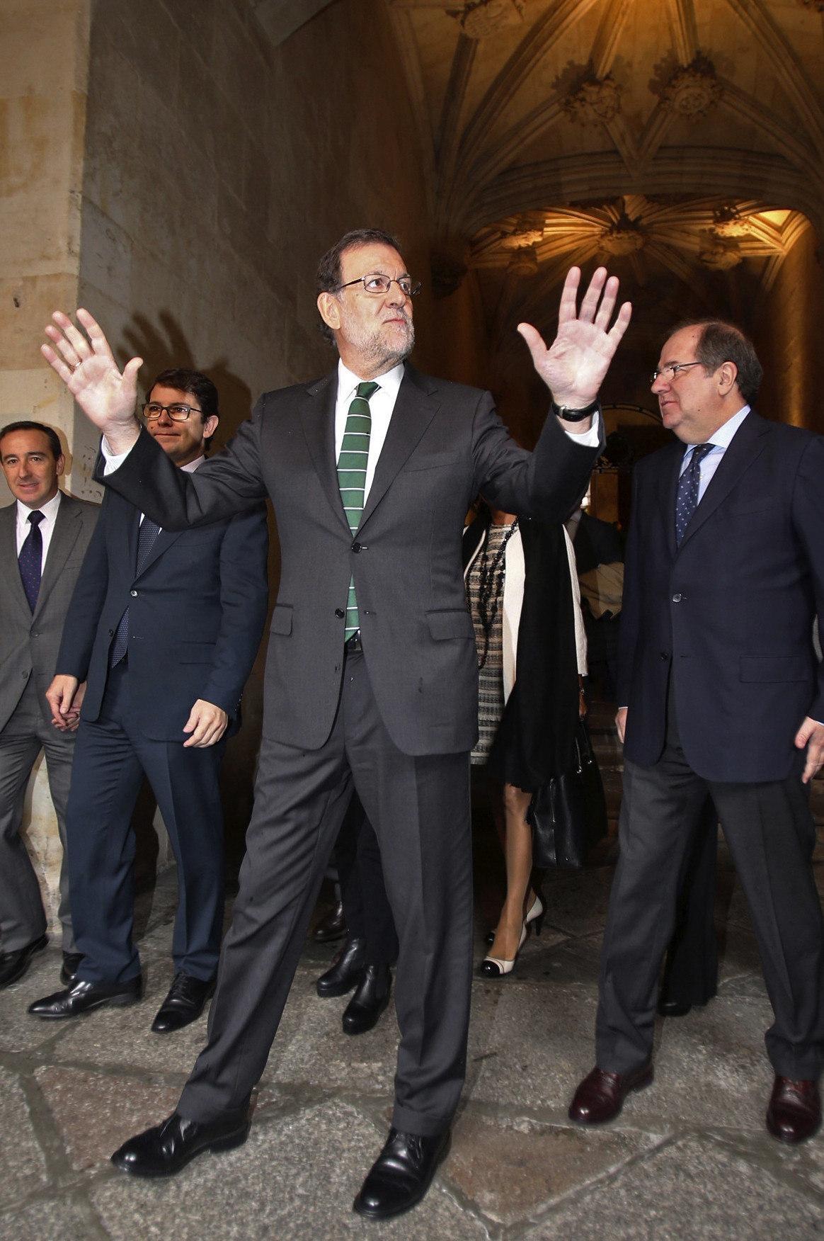 Rajoy, la semana pasada, en Salamanca.
