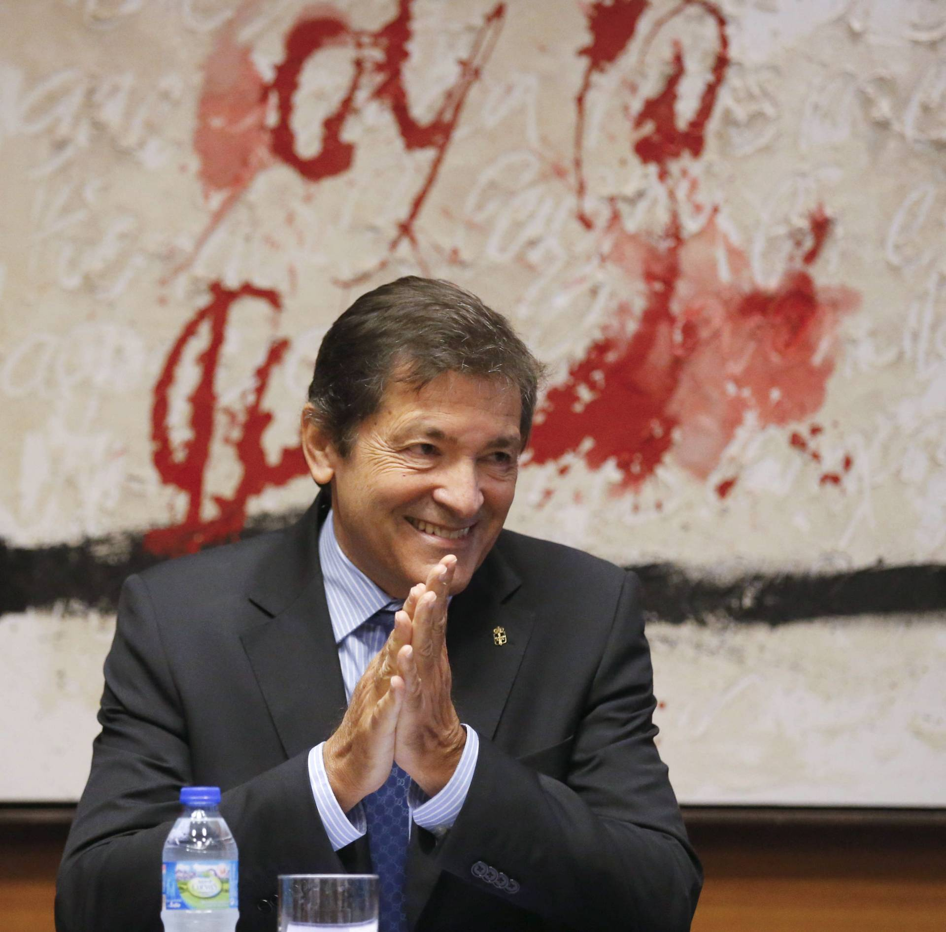 El presidente de la gestora socialista, Javier Fernández.