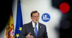 Mariano Rajoy, durante su comparecencia en Bruselas.