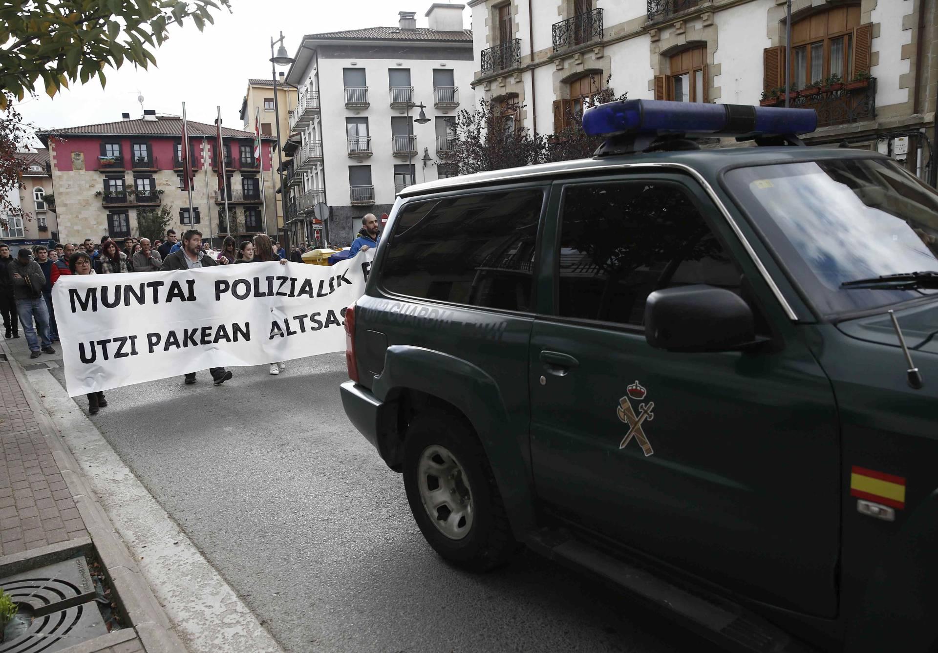 Manifestación en Alsasua tras las agresiones a la Guardia Civil.