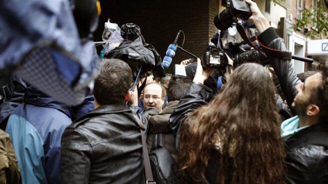 El primer secretario del PSC, Miquel Iceta, a su llegada al Comité Federal del PSOE.
