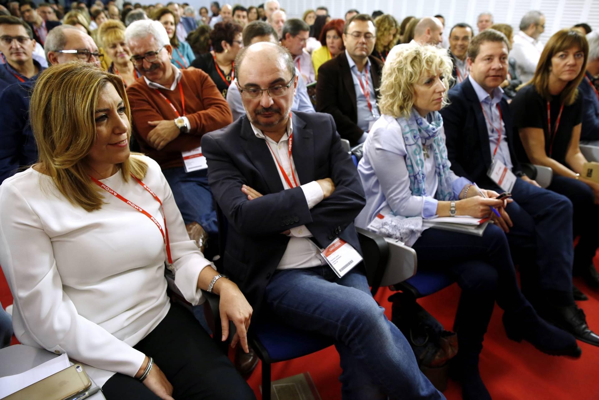Susana Díaz en el Comité Federal del PSOE.