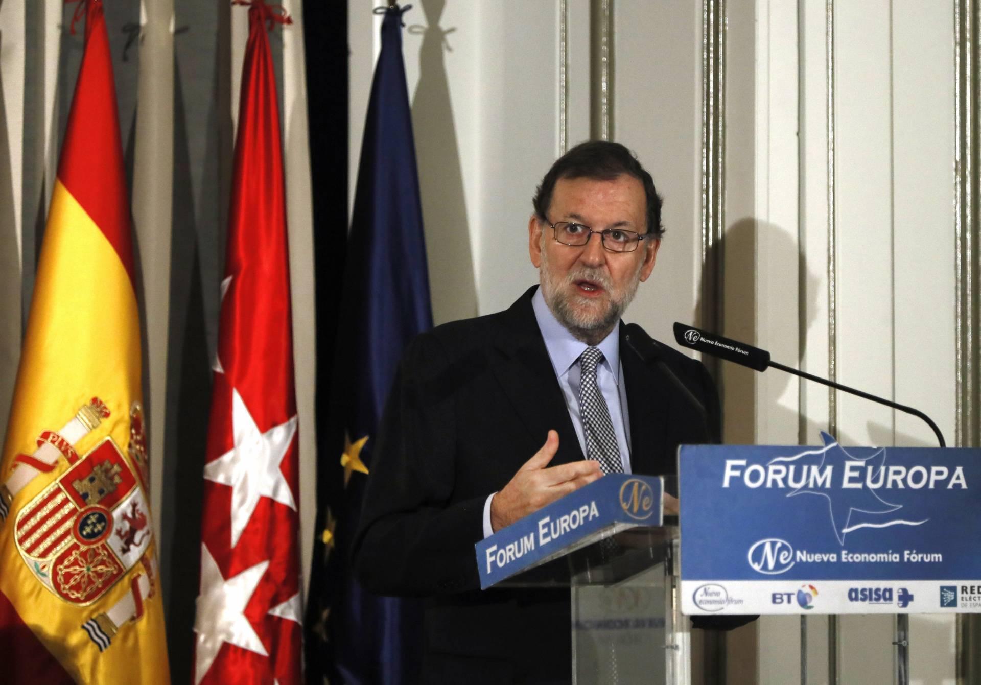 Rajoy, en el desayuno celebrado este lunes en el Fórum Europa.