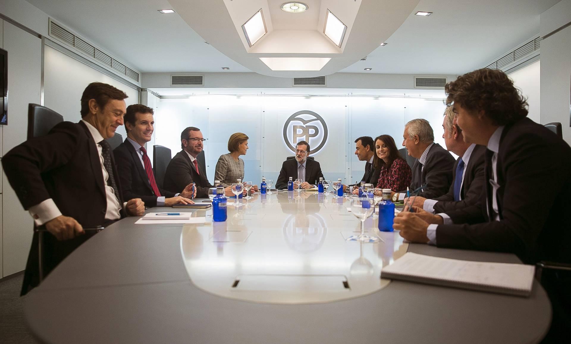 Rajoy preside el Comité de Dirección del PP