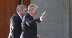 Pablo Crespo y Miguel Durán entran en la Audiencia para el juicio de Gürtel.