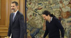 El Rey Felipe VI y Pablo Iglesias