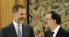 El Rey Felipe VI, junto a Mariano Rajoy.