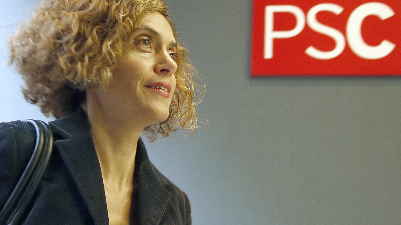 La dirigente del PSC, Meritxell Batet, a su llegada a la reunión del Consell Nacional de los socialistas catalanes.