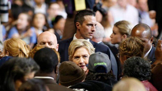 La candidata demócrata, Hillary Clinton, en campaña electoral.