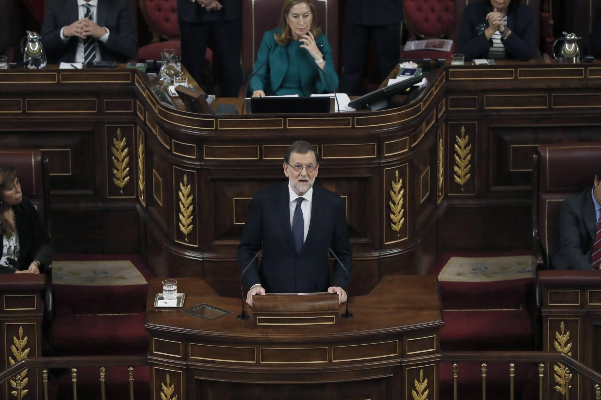 Mariano Rajoy durante su discurso de investidura.