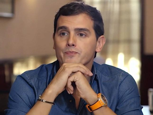 Albert Rivera, en un momento del debate con Pablo Iglesias en 'Salvados'.