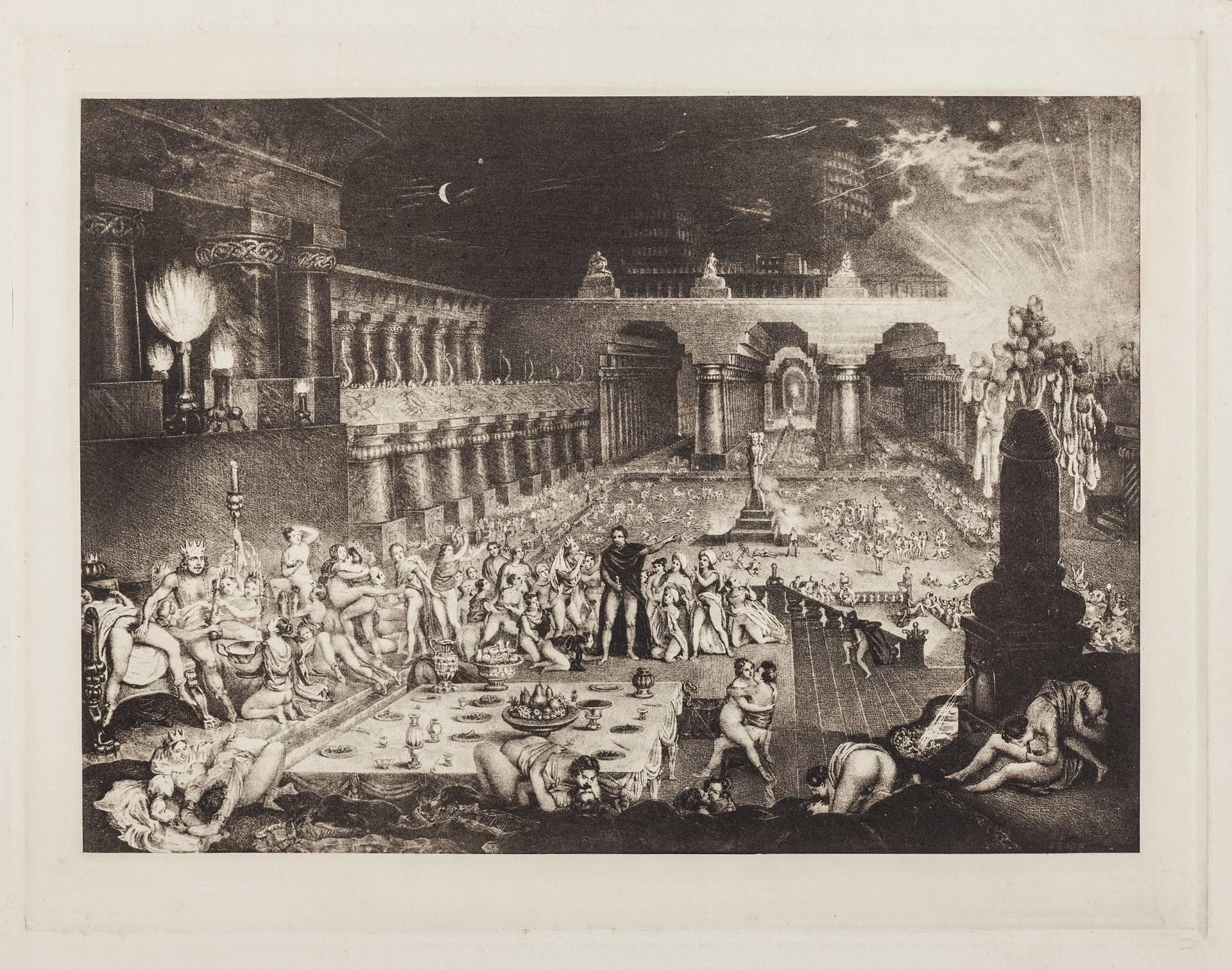 'La caída de Babilonia', anónimo (alrededor de 1950). Reedición de un grabado del siglo XIX. Collection Mony Vibescu©Gilles Berquet.