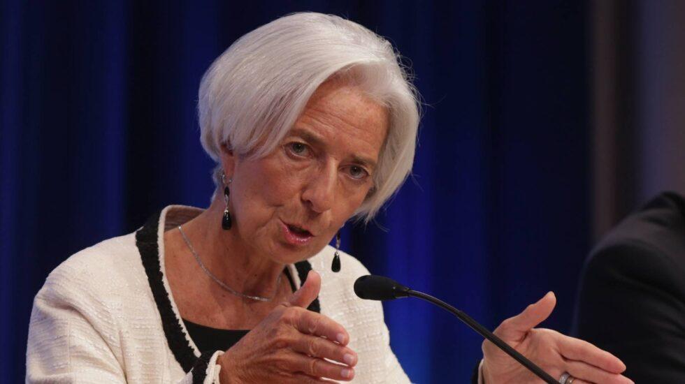 La directora general del FMI, Christine Lagarde, durante una intervención ante la prensa.