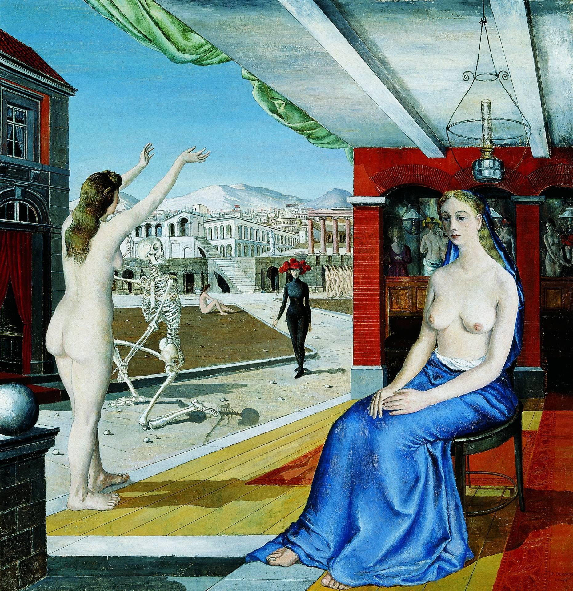 'L'Appel', de Paul Delvaux (1944). Colección Telefónica.