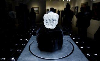 Uno de los diamantes más grandes del mundo, subastado en Londres el pasado mes de mayo.