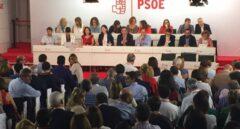 Imagen del interior del Comité Federal del PSOE, este sábado, en Ferraz.