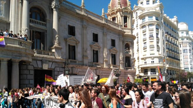 Manifestación de estudiantes contra la LOMCE