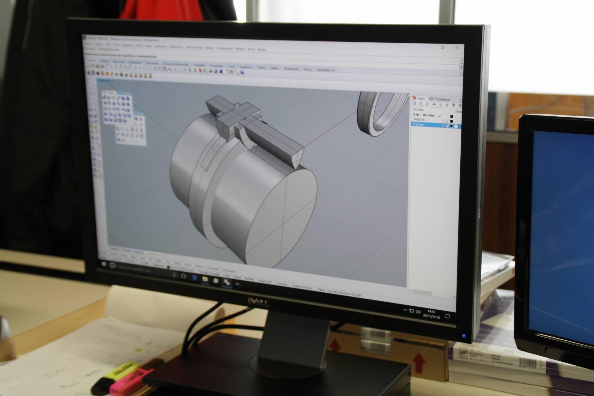 Los diseños de Argyor se proyectan en 3D.
