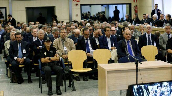 Los acusados por las tarjetas 'black' en la Audiencia Nacional.