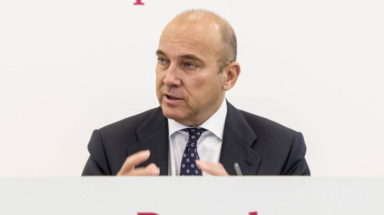 Pedro Larena, consejero delegado de Banco Popular, en la presentación de resultados del tercer trimestre de 2016.