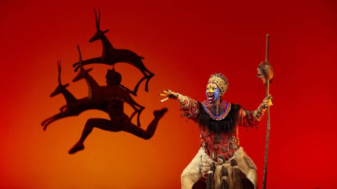 Una escena del musical 'El rey león'.
