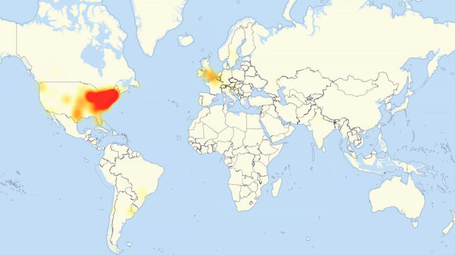 En la imagen se observan las zonas afectadas por el ciberataque.