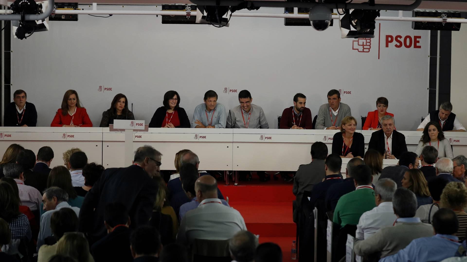El Comité Federal del PSOE reunido este domingo en Madrid.