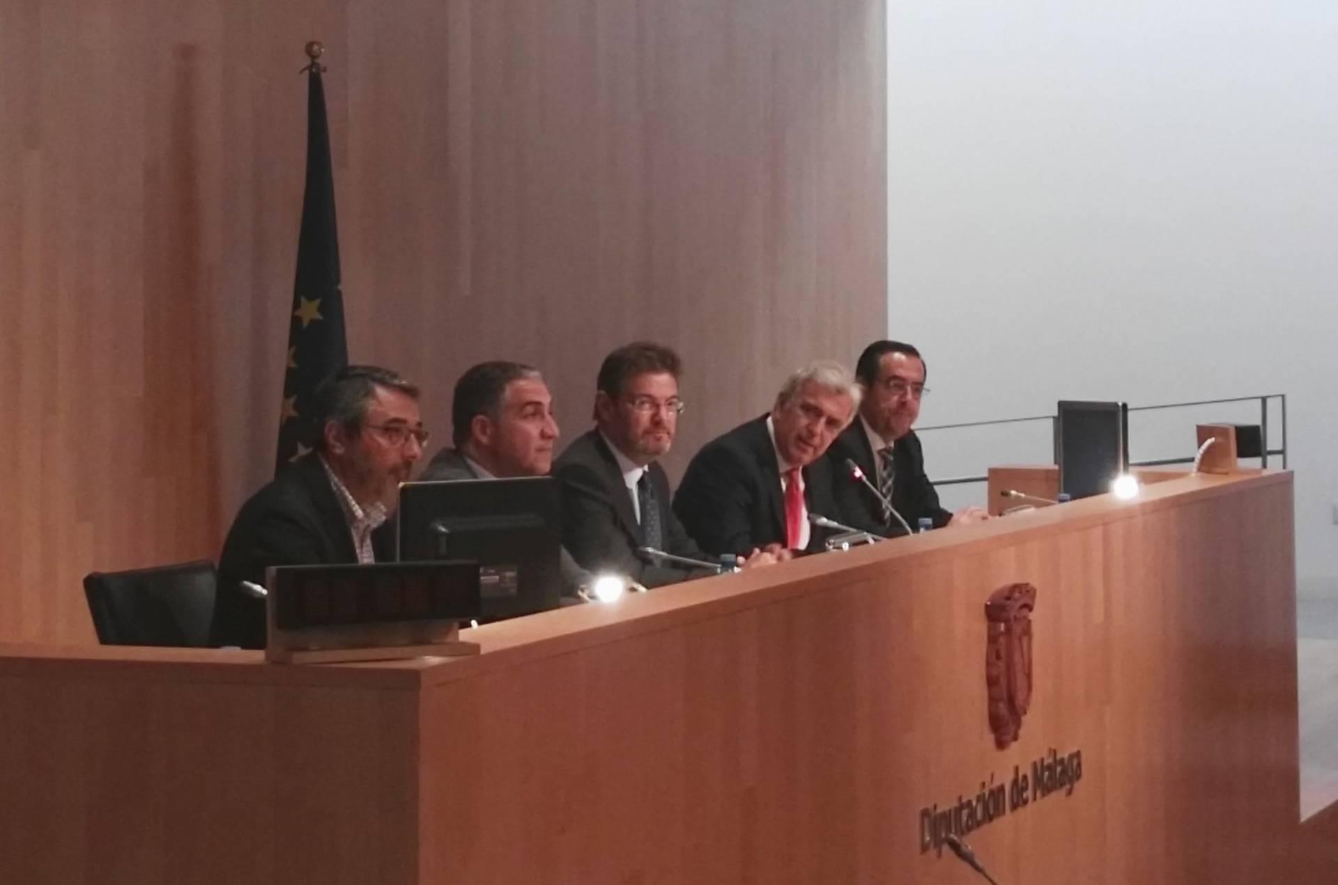El ministro de Justicia, Rafael Catalá, en las XXVI Jornadas Nacionales de Jueces Decanos de Málaga.