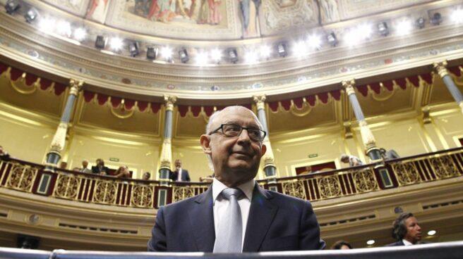 El ministro de Hacienda, Cristóbal Montoro, responsable de las finanzas públicas.