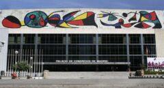 Fachada del Palacio de Congresos, en el Paseo de la Castellana.