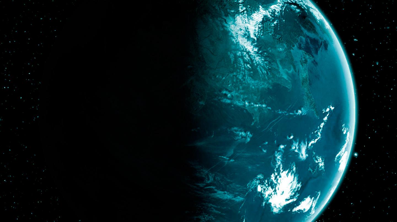 Masa de agua en un planeta con atmósfera