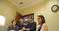 Los diputados de Unidos Podemos Íñigo Errejón, Irene Montero, Gloria Elizo y Marcelo Expósito.