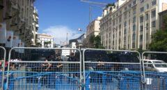 Una imagen del dispositivo policial preparado para una manifestación de 'Rodea el Congreso'.