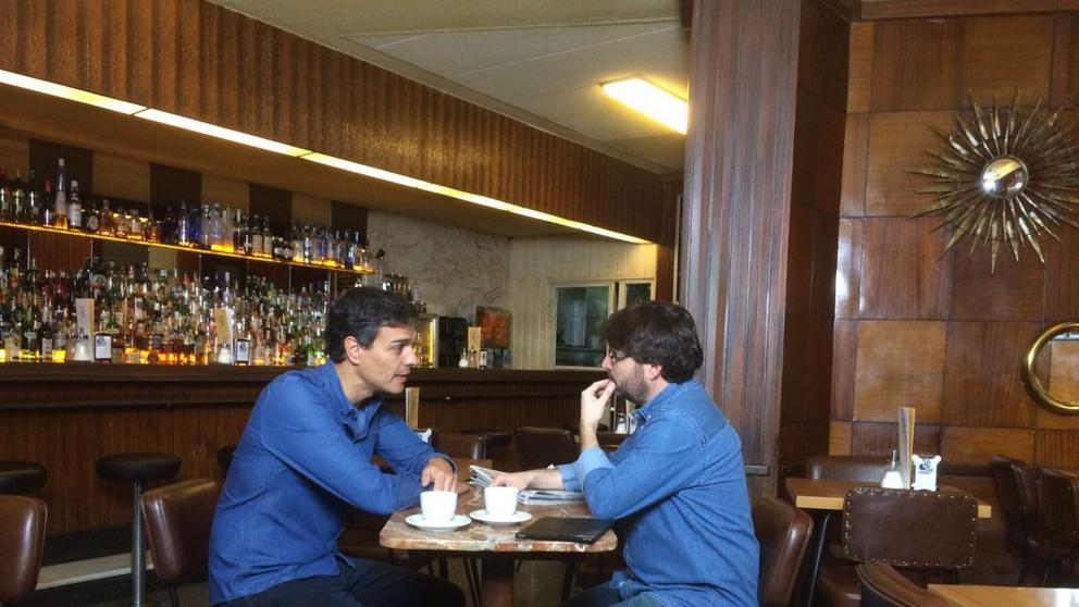 Jordi Évole entrevista a Pedro Sánchez.
