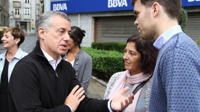 Iñigo Urkullu en Tolosa durante la pasada campaña electoral para las autonómicas.