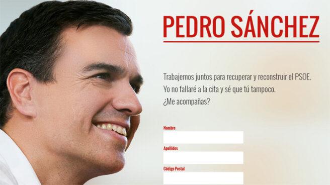 Web lanzada por Pedro Sánchez