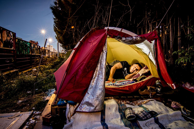 Un momento del Homeless Film Festival que se ha celebrado en Bilbao.