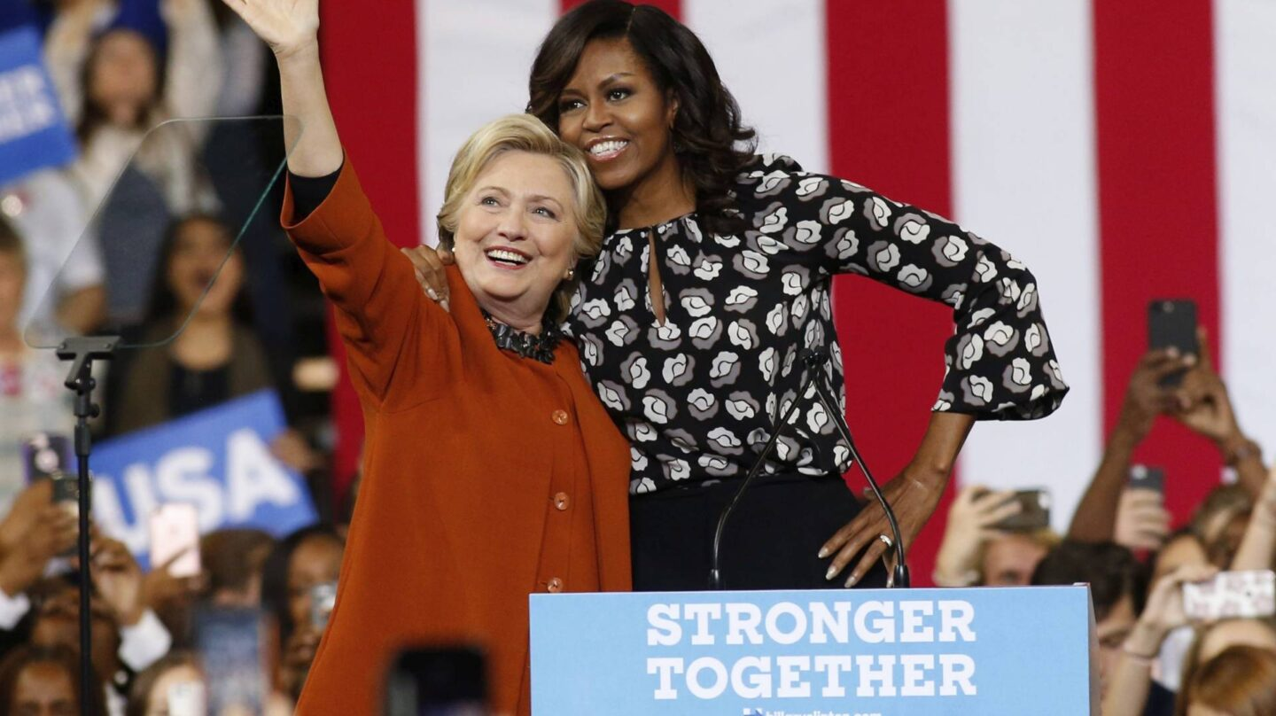 Hillary Clinton y Michelle Obama