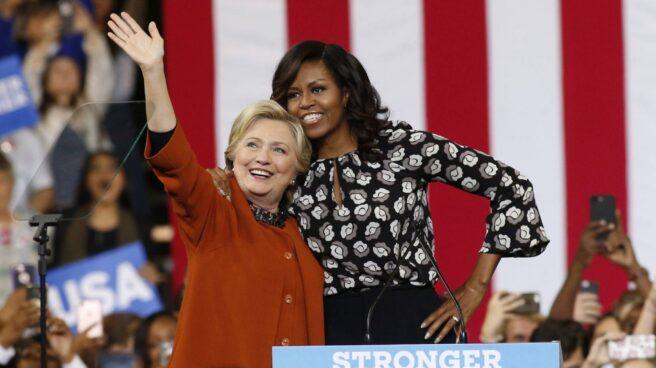 Hillary Clinton y Michelle Obama